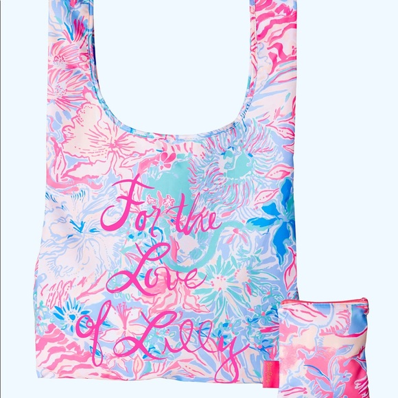 Lilly Pulitzer Handbags - 🆕 Lilly Pulitzer Reusable Packable Shopper Tote